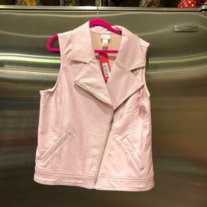 NWT Xhilaration Pink Metallic Vest